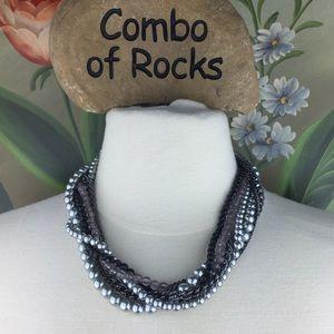 Premier Designs Multi Strand Faux Pearl Necklace